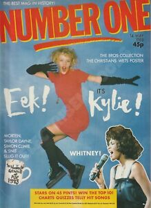 NUMBER ONE MAGAZINE KYLIE WHITNEY LIVE DANNY WILSON MAY 1988