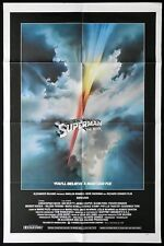 SUPERMAN Original US ONE SHEET Movie poster Christopher Reeve Rare