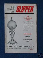 Barnet v Macclesfield Town FA Trophy Semi Final Programme 4/4/70 @ Stoke