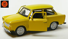 Trabi-Jubiläum 2014: 50 J. Trabant 601 Modellauto 11cm WELLY Sonderfarbe gelb