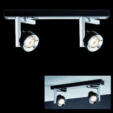 Design Deckenleuchte Spotlight Balken 2x40W GU10 Schwarz Chrom 602.34 Paulmann