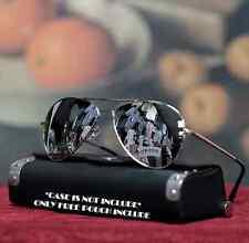 New Men Sunglasses Mirrored Lens Metal Pilot Style Fashion Design Driving Silver