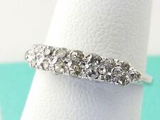 14k Double Row White Gold Diamond  Ring  0.20Carrat