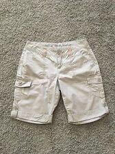 Apt9 Utility Bermuda Shorts 100% Cotton Multiple Pockets Color Beige Size 4