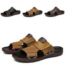 Summer Beach Sandals Shoes Men's Slippers Open Toe Slingback Slip on Flats Vogue