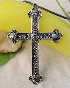 6PCS Tibetan silver ornate cross pendants A8692
