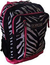 Trans Jansport MegaHertz BackPack Made Digital Zebra School Bag Laptop Pink NEW