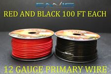 12 GAUGE WIRE 200 FT ENNIS ELECTRONICS 100 RED 100 BLACK PRIMARY AWG COPPER CLAD