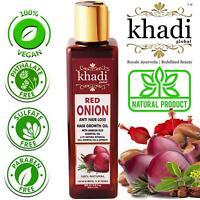Khadi Global Red Onion Hair Growth Oil with Argan, Jojoba, Rosemary - 200ml