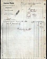 """NANTES (44) RIZ & FARINE de RIZ """"GASTON NAUX"""" en 1907"""