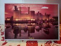 Heritage Jigsaw Puzzle Caernarfon Castle Wales 1000 Pce Complete Carmarthen Rare