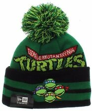 Teenage Mutant Ninja Turtles New Era Wide Point Beanie Knit Winter Pom Cap Hat