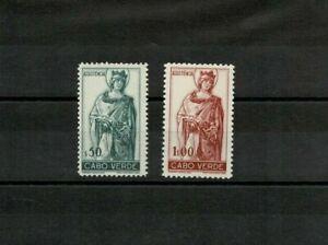 Port Cabo Verde Assistencia MH full set #4-5 1948 2 stamps Rainha Santa Isabel