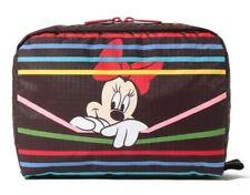 Lesportsac Disney Mickey Minnie Mouse Makeup Tab Xl Rectangular Cosmetic Bag