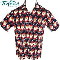 Santa Navy Mens Hawaiian Shirts Christmas Party