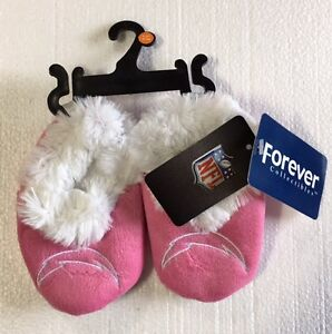 LA Chargers Pink - Infant Newborn Girl Baby Booties Slippers NEW Shower Gift