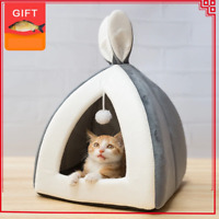 Pet Cat Bed Indoor Kitten House Warm Small for cats Dogs Nest Cat Cave With GIFT