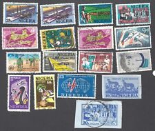 NIGERIA - NINETEEN DIFFERENT USED STAMPS