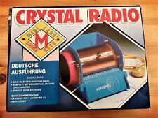 Kristall Radio Bausatz, Kit, Experimentierkasten, 1970-er Jahre, OVP, unbenutzt