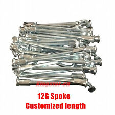 Custom Length 12G Electric Bicycle Spokes  E-bike Spokes with Nipples for Rim