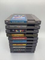 Nintendo NES Lot of 10 Games - Mario, Tetris, Dragon Warrior, Rambo