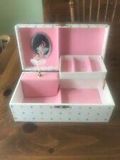 Vintage Child's Jewelry Music Box Dancing Ballerina Mirror Schmidt