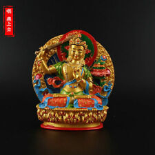 Tibetan Buddhism Hand painting resin statue Car decoration Manjushri Bodhisattva