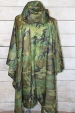 Orc Industries Wet Weather Poncho BDU Woodland USED