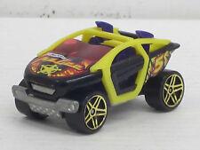 Moto Crossed schwarz/gelb Police mit Dekorstreifen, ohne OVP, Hot Wheels, 1:64
