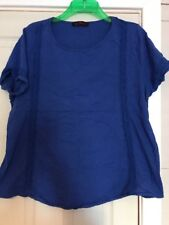 So Fabulous Blue Lace T-shirt. Size 20.