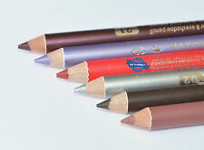 Davis Waterproof 2-in-1 Duo Lip and Eye Liner Pencil 22 Shades Available 005 Dark Blue 2 Pencils