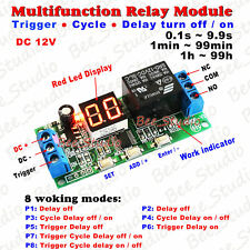 DC12V LED Programmable Cycle Delay Turn on/off Timer Control Relay Switch Module