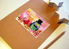 diario degli sposi- quaderno copertina decorata con gufi sposi matrimonio