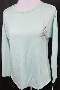 SONOMA Laura Brophy CrewNECK Penguin Just  Chill KNIT TOP Cotton/Poly XS NWT