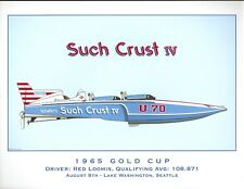 Such Crust IV 1965 Gold Cup Hydroplane Print - by R.J. Tully