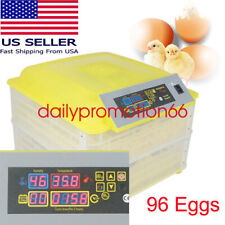 Us Ce 96 Egg Incubator Digital Fully Automatic Tuner Egg Hatching Chicken Device