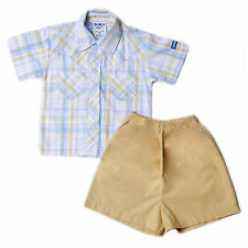 Oshkosh B'gosh Checkered Polo with Short Set (OCSS #22) - Size: 9 months
