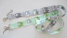 2 My Neighbor Totoro Gray Green Fabric Key Chain Lanyard Set