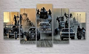 Mad Max Fury Road Movie 5 Panel Canvas, Wall Art, Picture, Print #054