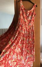 Laura Ashley Vintage Floral Full Circle Lace Up Back Gypsy Dress Size 14