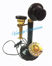 Vintage Antique Brass Retro Candle Stick Telephone Collectables Home Decor Gift