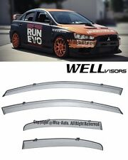 For 08-17 Mitsubishi Lancer WellVisors Side Window Visors Rain Guard