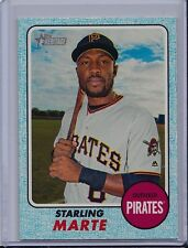 Starling Marte 2017 Topps Heritage Blue Border /50 SP Bordered Parallel Card