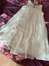 Ladies Lovely Off White Sleevles Gypsy Dress Size10