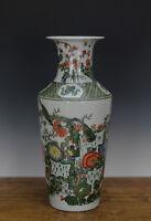 Fine Chinese Famille Verte Bird Flower Porcelain Vase