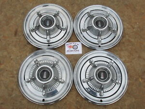 "1966 PLYMOUTH FURY I, II, III, SPORT FURY 14"" 5 LUG TYPE WHEEL COVERS, HUBCAPS"