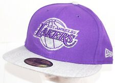 LOS ANGELES LA LAKERS PURPLE HAT NBA BASKETBALL OEM NEW ERA 59FIFTY ADULT 7 1/2