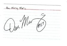 DAN MURRAY MONTREAL MACHINE BILLS AUTOGRAPHED INDEX CARD LOOK HARD TO FIND