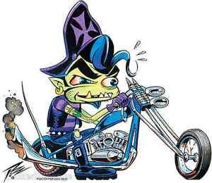 Biker Ghoul Sticker Decal Artist The Pizz P71