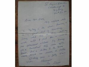 ION.L.IDRIESS..Full page letter..signed & dated..1954